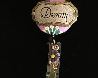 Dream A Little Dream-Nurse Retractable ID Badge Reel/ RN Badge Holder/Doctor Badge Reel/Nurse Badge Holder/Nursing Student Gift