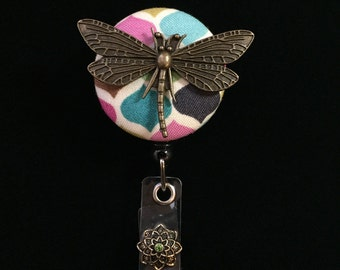 Bronzed Dragonfly -Nurse Retractable ID Badge Reel/ RN Badge Holder/Doctor Badge Reel/Nurse Badge Holder/Nursing Student Gift