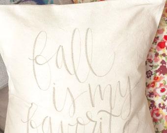 Fall is My Favorite Pillow Cover 16x16 fall home decor, present, housewarming gift, cushion cover, throw, autumn, seasonal decor