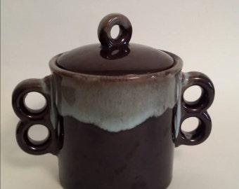 Vintage storage container, ceramic storage, ceramic dish.