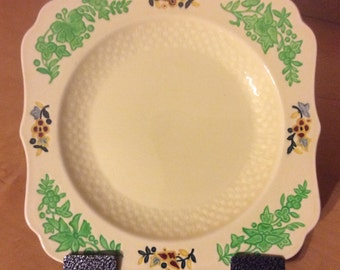 Vintage Art Deco Royal Doulton Gaylady Gay Lady Plate 731190 Square