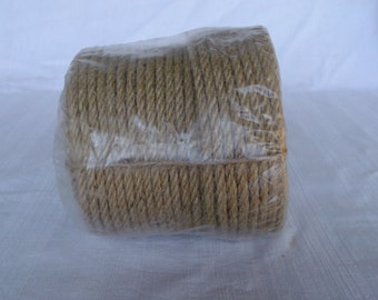 50 metre/164 feet/ hemp rope/6mm twist/home decor/garden/diy/wrapped, ready to go/ low price/
