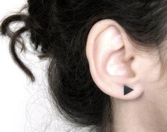 Triangle earrings, Triangle posts, Triangle studs, minimalist earrings, edgy earrings, everyday earrings, geometric studs.