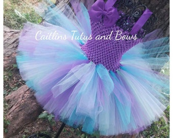 Purple Tutu dress, blue tutu dress, purple tutu, purple dress, birthday tutu, birthday tutu dress, flower girl tutu, purple and blue tutu