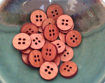 Cherry Wooden Buttons (Pack of 10)