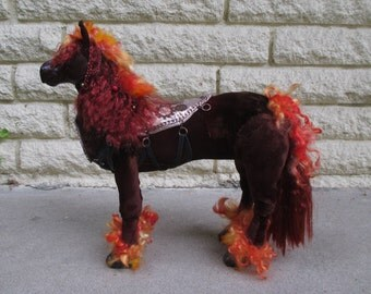 War; Horse of the Apocalypse OOAK Art Doll