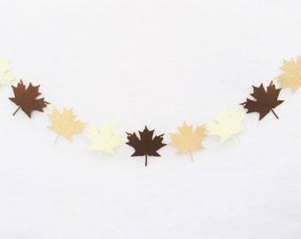 Leaf Banner, Fall Banner, Fall Mantle Decor, Fall Wedding Decor, Thanksgiving Decor, Fall In Love, Fall Photo Prop, Fall Garland, Mantle