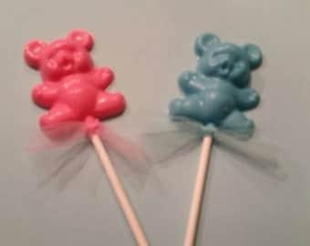 24  Baby teddy Bear lollipops baby shower favors