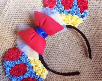 Snow White Inspired Floral Mouse
