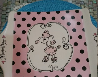 Ganz Poodle Tray. 14 X 11 inches.