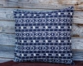 Black White Pillow Cover, Throw Pillow 16*16 Inch, Decorative Pillow, Handmade Customizable Cushion, Cottage Decor