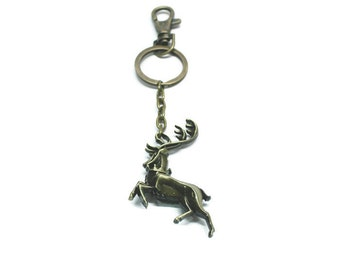 Game of Thrones House Baratheon Sigil Keychain/Literary Necklace/Keyholder/Necklace/Bookmark/Bag Charm/Bracelet