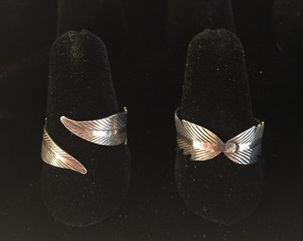 Sterling Sulver Feather Wrap Ring