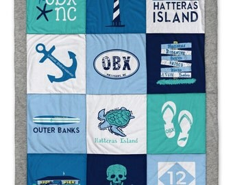 Hatteras Outer Banks Destination Blanket