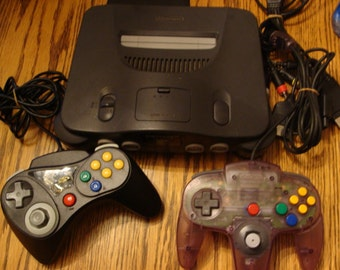 Nintendo 64 2 controllers and 6 games
