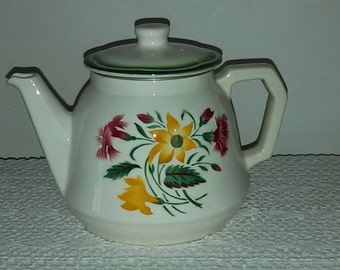 Teapot Digoin Sarreguemines / Vintage French 50s