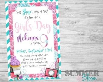 Girls Day Out Birthday Invitation