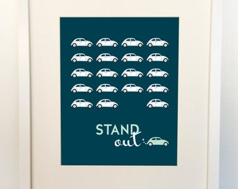 VW Beetle - Car Nursery Printable - Stand Out