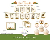 Thanksgiving Decor - Thanksgiving Party Printables - Party Decorations