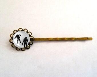 Zombie Cabochon Ring Hair Pin Clip