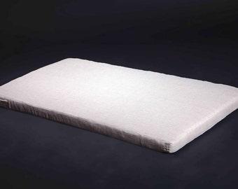 Flax futon mattress, Linen mattress for adult, Eco mattress, Organic mattress, ALL SIZE, from 70x190x6 cm or 75x27.5x2.4 inches, top - linen