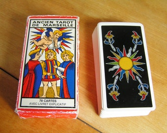 Vintage 1963 Tarot of Marseilles Ancient Tarot de Marseilles Colorful French Tarot Playing Cards Fortune Telling Cards Divination