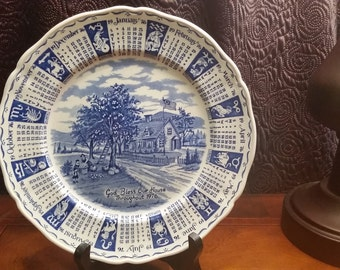1976 Alfred Meakin-Staffordshire Collector's Calendar Plate