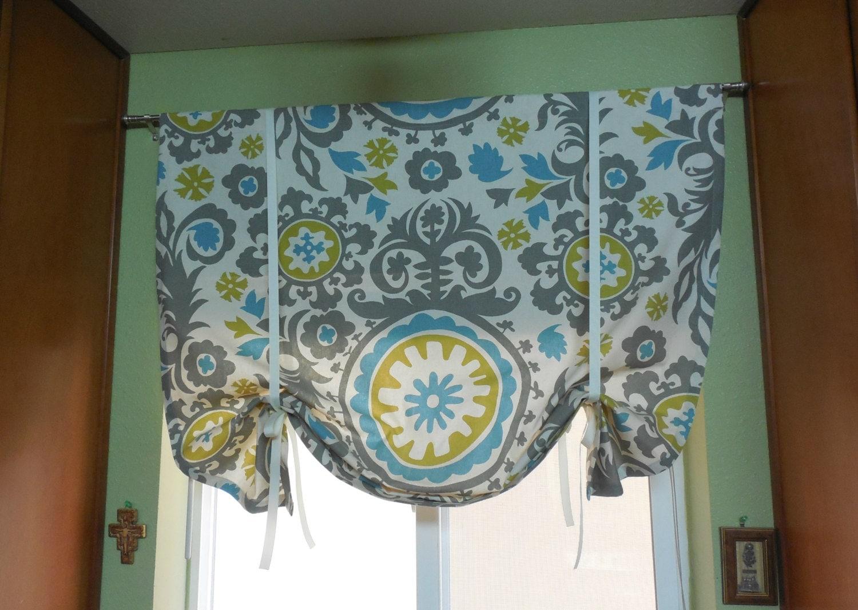 Window Tie Up Valance Tie Up Curtain Kitchen Valance Window