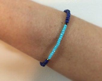 Lapiz Lazuli Bracelet Amazonite Delicate Bracelet Trend Bracelet Gemstone Bracelet Dainty Bracelet Everyday Simple Bracelet Talisman Gift
