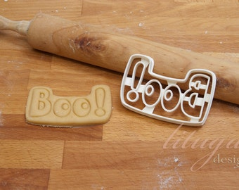Boo! -  A Halloween Cookie cutter