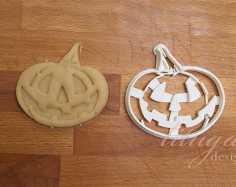 Pumpkin -  A Halloween Cookie cutter, Jack O'Lantern cookie