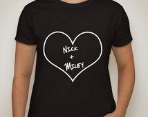 """NILEY """"nick + miley"""" nick jonas + miley cyrus t-shirt"""