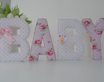 Beautiful & Unique Fabric Letters