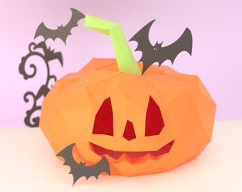 Halloween decoration, DIY  paper pumpkin for your decoration in your halloween celebration
