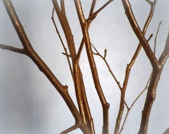 Tree Branches Home Decor Set Of 5 Copper Color 28 Wood Branches 7th Wedding