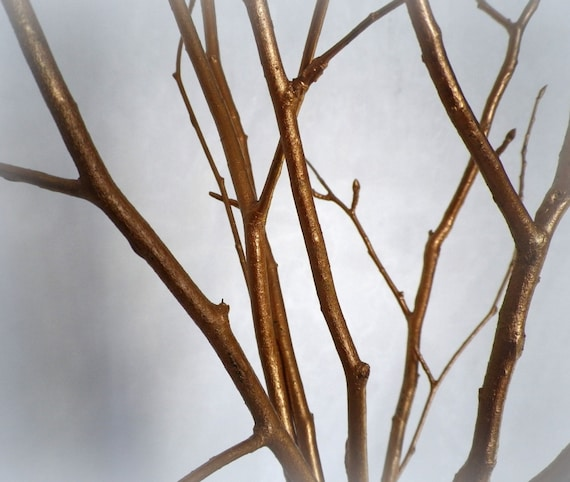 Items Similar To Tree Branches Home Decor Set Of 5 Copper
