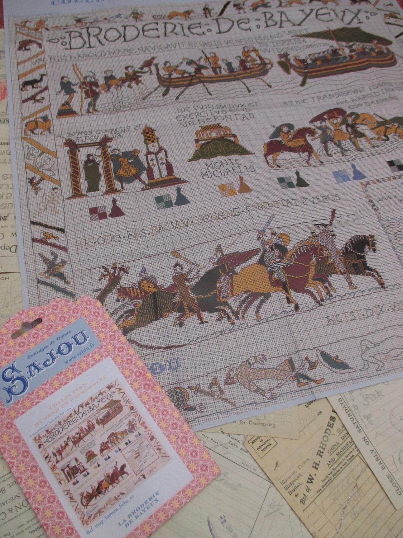 Sajou museum heritage large cross stitch embroidery