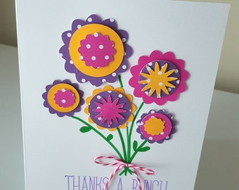 Handmade Thanks A Bunch 5x7 Thank You Note Card