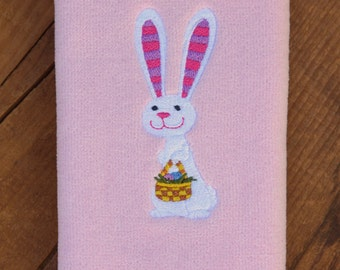 Easter Bunny - Embroidered Fingertip Towel