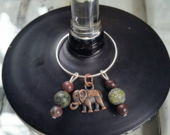 Rustic Wine Charm set