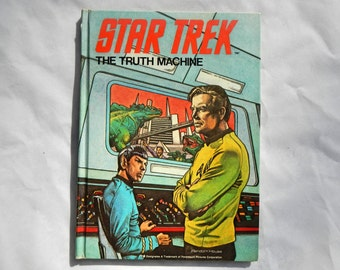 Star Trek The Truth Machine by Christopher Cerf and Sharon Lerner Hardcover Book
