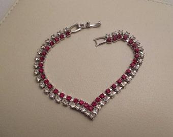 Vintage Sweetheart Rhinestone Bracelet