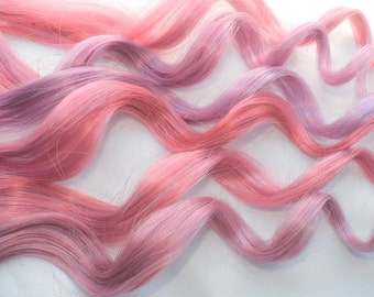 Soft Pink Human Hair Extensions, Clip In Hair Extensions, Pastel Hair Extensions, Ombre Hair, Pastel Pink Extensions