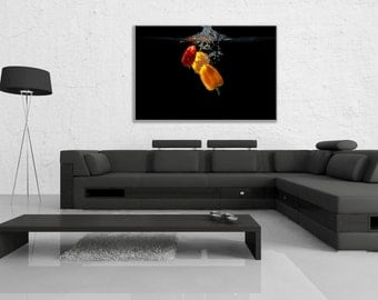 "Canvas ""Three Peppers Splash"""
