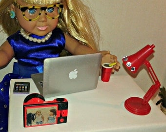 """Laptop for Doll's such as American girl 18"""" Dolls, Doll Computer, Doll Laptop, Computer for Doll's, Laptop for Doll's"""