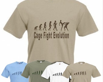 Evolution To CageFighter t-shirt Funny Cage fighting WEC T-shirt sizes S TO 2XXL