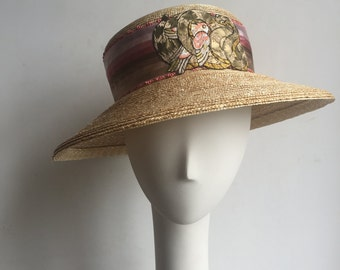 Dove and Serpent Straw Hat