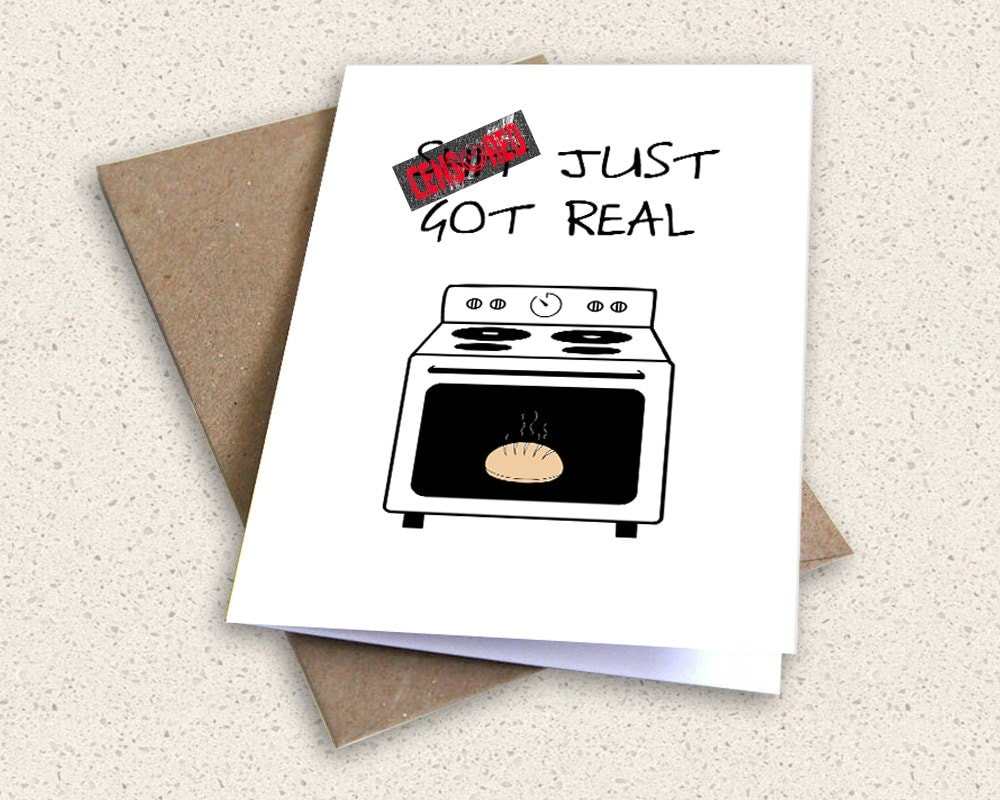 Bun In The Oven INSTANT PRINTABLE DOWNLOAD Diy Card Shit Just – Bun in the Oven Baby Announcement