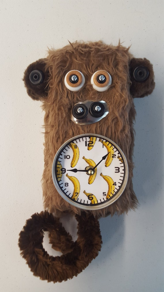 Handmade Monkey Clock