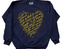 Love is Patient Love is Kind Christian Jesus Religious inspirational Sweatshirt